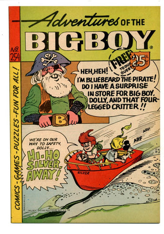 Adventures of the Big Boy #254   Pirate Cover   Restaurant Giveaway Comic