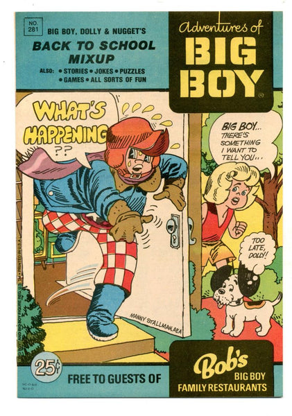 Adventures of the Big Boy #281    Restaurant Giveaway Comic