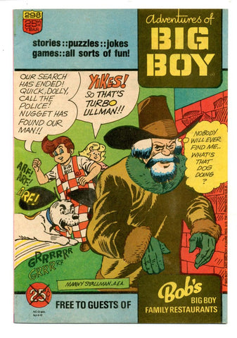 Adventures of the Big Boy #298    Restaurant Giveaway Comic