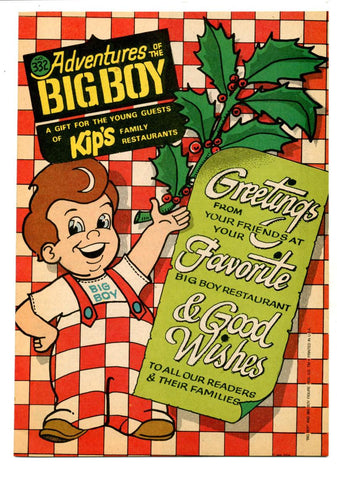 Adventures of the Big Boy #332    Restaurant Giveaway Comic