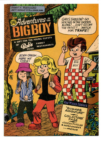 Adventures of the Big Boy #341    Restaurant Giveaway Comic