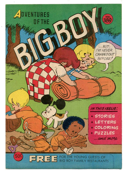 Adventures of the Big Boy #389    Camping Cover    Restaurant Giveaway Comic