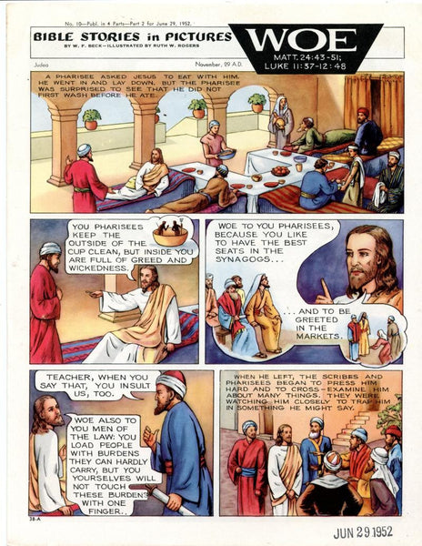 Bible Stories in Pictures #10 Part 2    June 29 1952     Woe