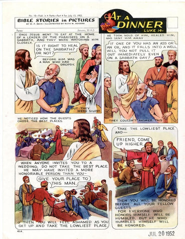 Bible Stories in Pictures #10 Part 4    July 13 1952     At A Dinner