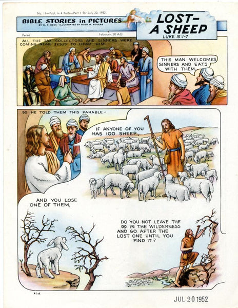 Bible Stories in Pictures #11 Part 1    July 20 1952     Lost A Sheep