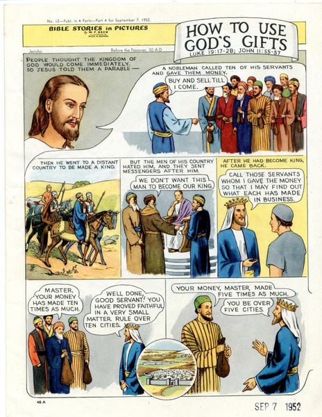 Bible Stories in Pictures #12 Part 4    September 7 1952     How To Use God's Gifts