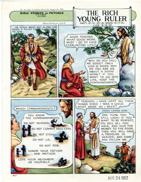 Bible Stories in Pictures #12 Part 2    August 24 1952     The Rich Young Ruler