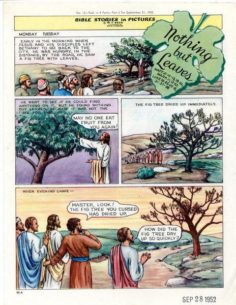 Bible Stories in Pictures #13 Part 2    September 21 1952     Nothing But Leaves