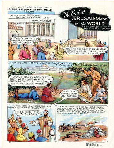 Bible Stories in Pictures #14 Part 3    October 26 1952     The End of Jerusalem and Of the World