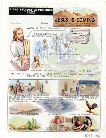 Bible Stories in Pictures #14 Part 4    November 2 1952     Jesus is Coming