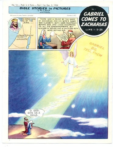 Bible Stories in Pictures #16 Part 1    December 2 1956     Gabriel Comes to Zacharias