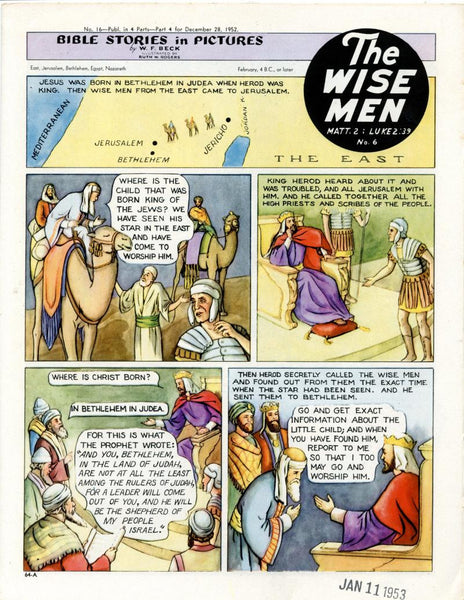 Bible Stories in Pictures #16 Part 4    December 28 1952     The Wise Men