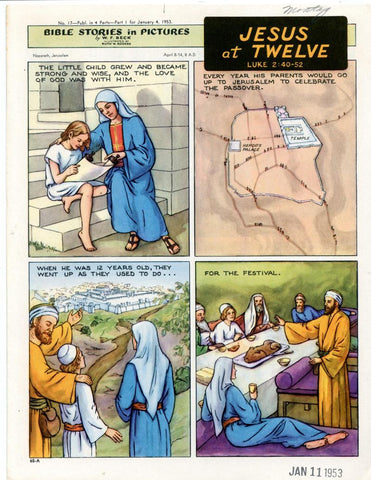 Bible Stories in Pictures #17 Part 1    January 4 1953     Jesus at Twelve