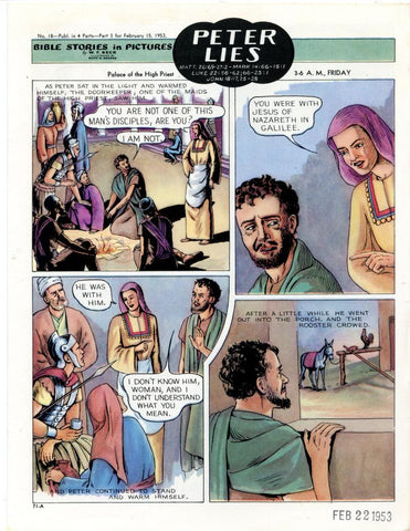 Bible Stories in Pictures #18 Part 3    February 15 1953     Peter Lies