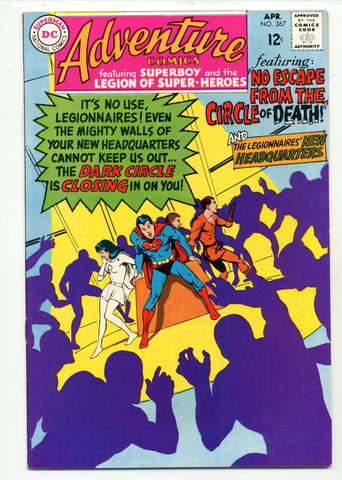 Adventure Comics #367    Legion of Super Heroes    Neal Adams