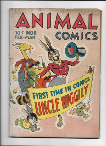 ANIMAL COMICS #2 [1943 GD+] 1ST UNCLE WIGGILY IN COMICS!