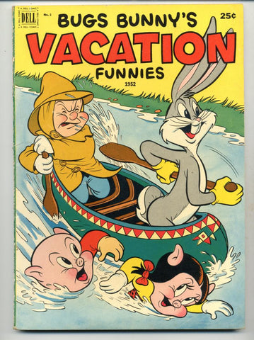 Bugs Bunny's Vacation Funnies #2    Canoe Cover
