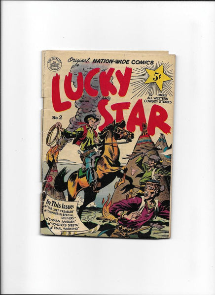 LUCK STAR #2 [1951 VG+] GREAT WESTERN COVER!  DIGEST-SIZE