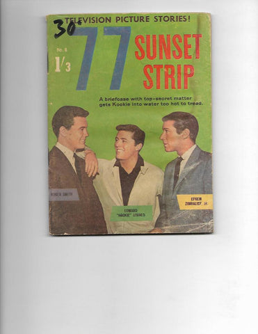 77 Sunset Strip No 8 1962  Australian Photo Cover!