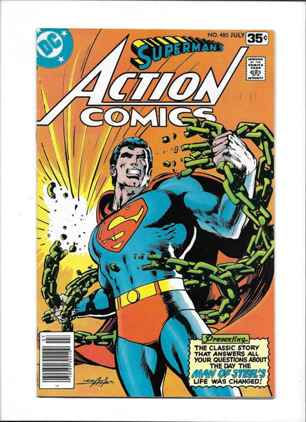 ACTION COMICS #485 [1978 VG+] NEAL ADAMS COVER!
