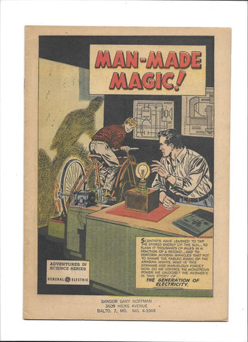 ADVENTURES IN SCIENCE [1953 VG-FN] 'MAN-MADE MAGIC!'  GE GIVEAWAY!