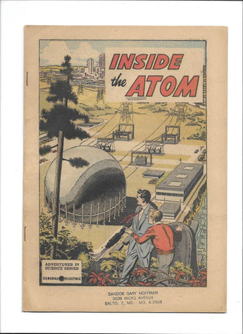 ADVENTURES IN SCIENCE [1955 VG-FN] 'INSIDE THE ATOM!'  GE GIVEAWAY!