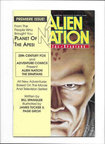 ALIEN NATION: THE SPARTANS #1  [1990 VF+]  ADAPTATION OF HIT TV SERIES!