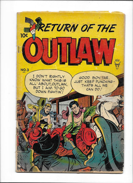 RETURN OF THE OUTLAW #3 [1954 GD-VG] BILLY THE KID STORY!