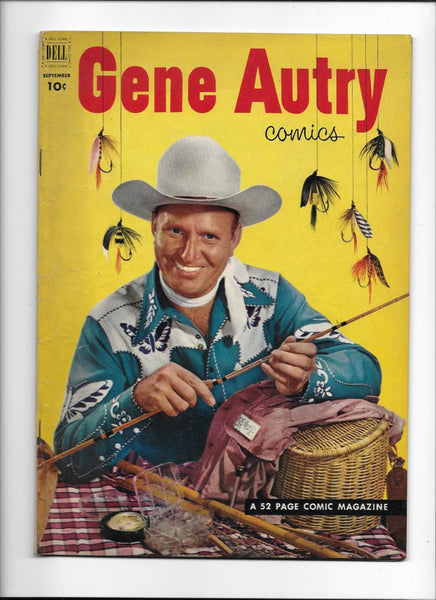 GENE AUTRY COMICS #67 [1952 VG+] FISHING COVER!