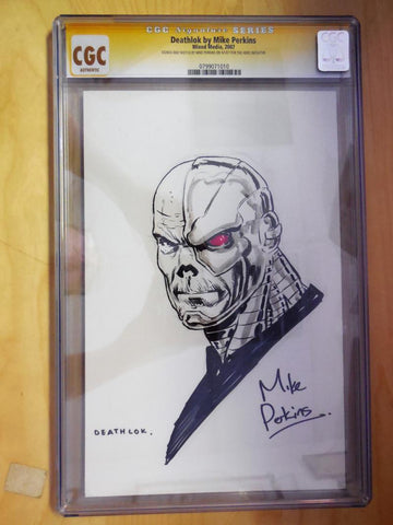 CGC SIGNATURE SERIES DEATHLOK BY MIKE PERKINS
