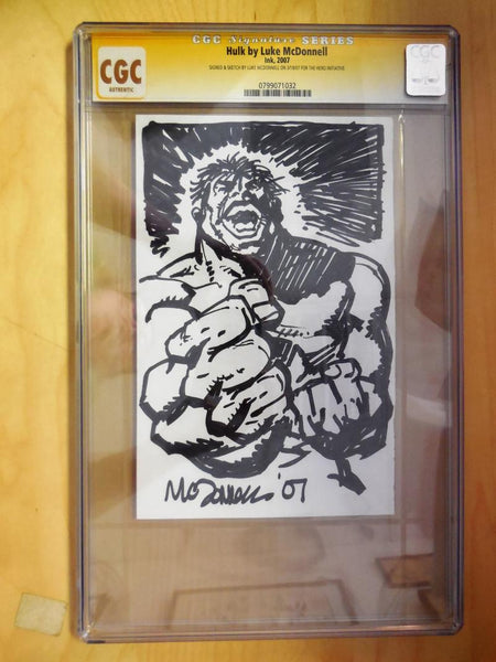 CGC SIGNATURE SERIES HULK BY LUKE MCDONNELL