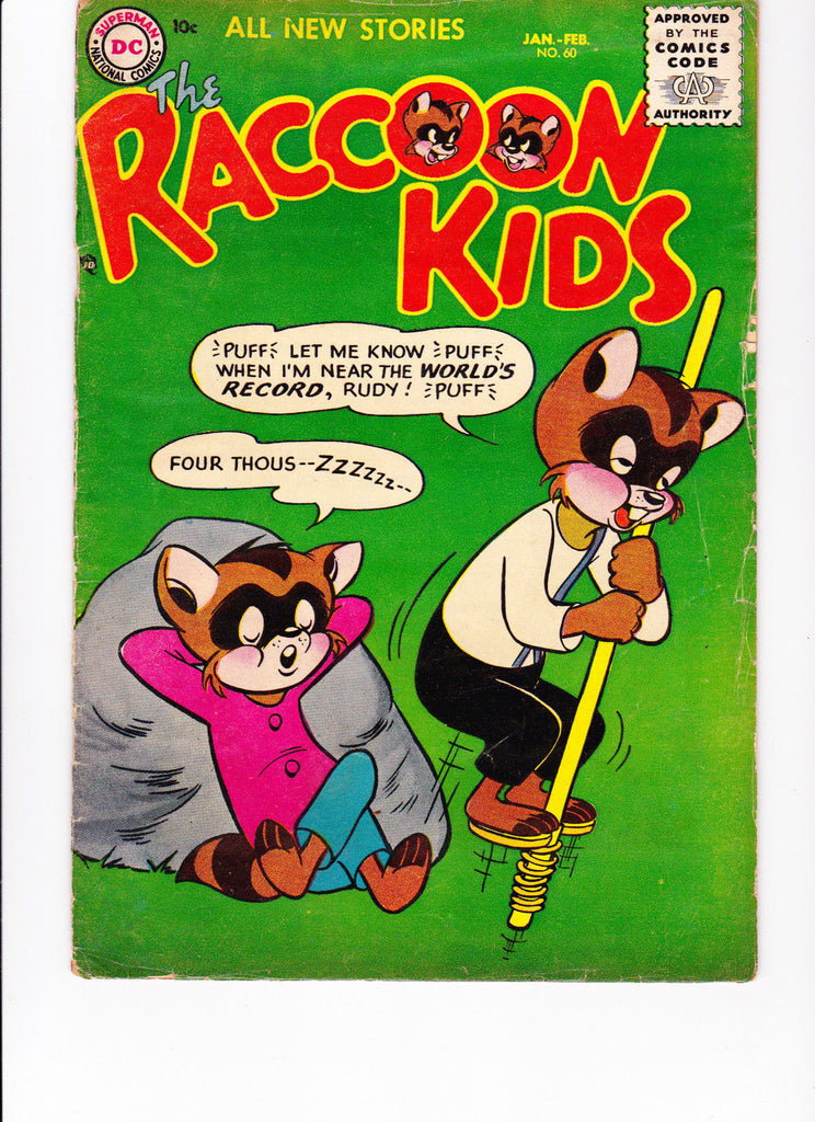 Raccoon Kids No.60 :: 1956 :: :: Pogo Stick Cover ::