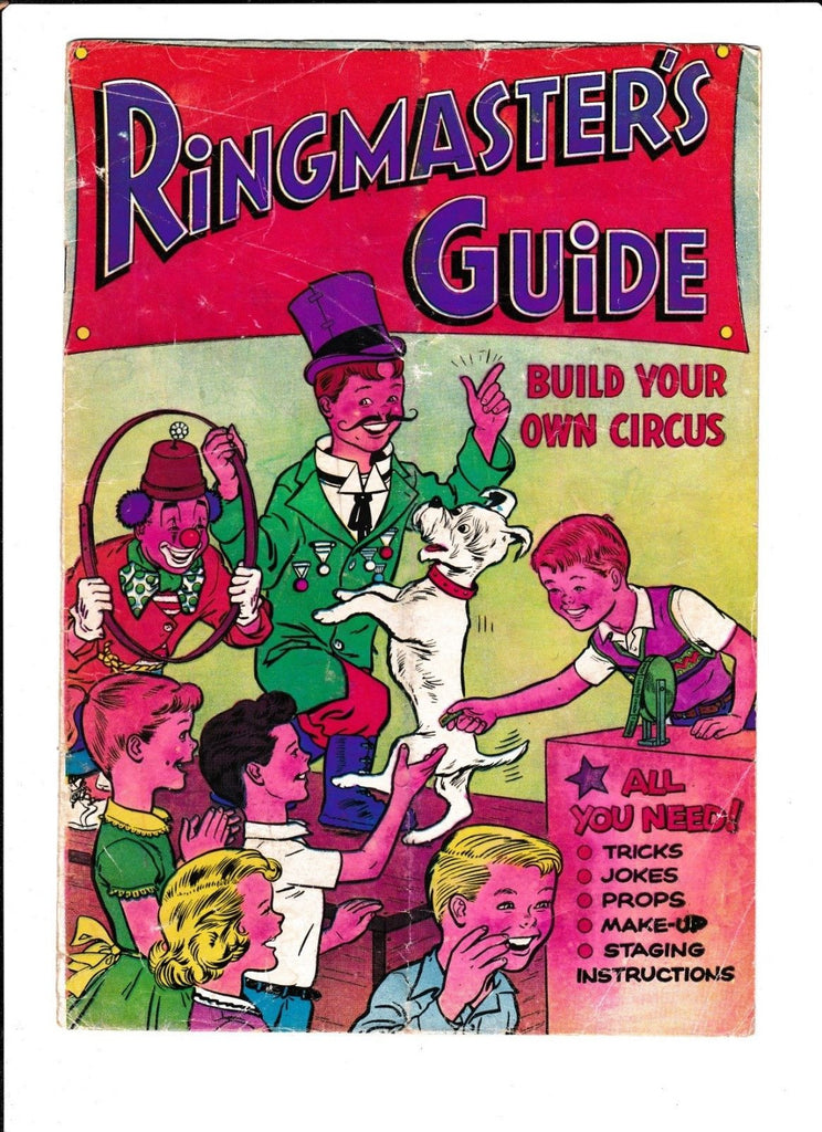 RINGMASTER'S GUIDE [1956 GD] GIVEAWAY --BUILD YOUR OWN CIRCUS--