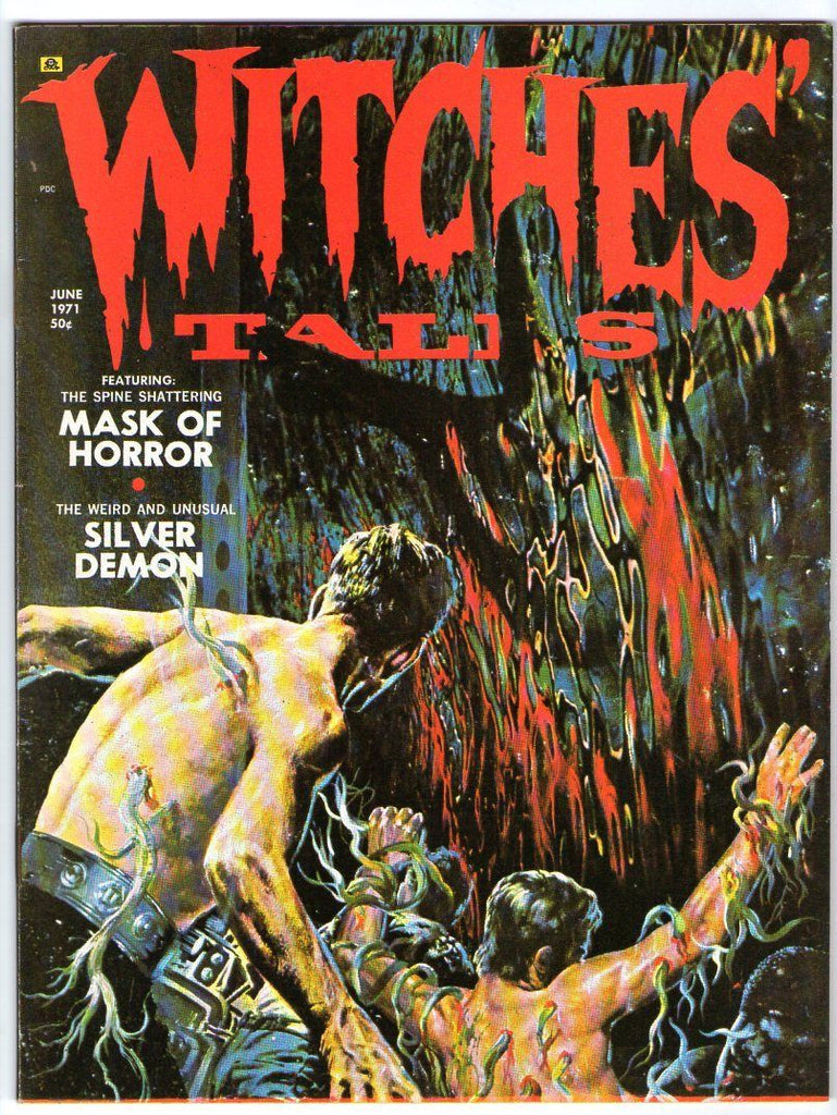 Witches Tales VOL 3 #3 Super Crazy leach Looking attack monster on cover