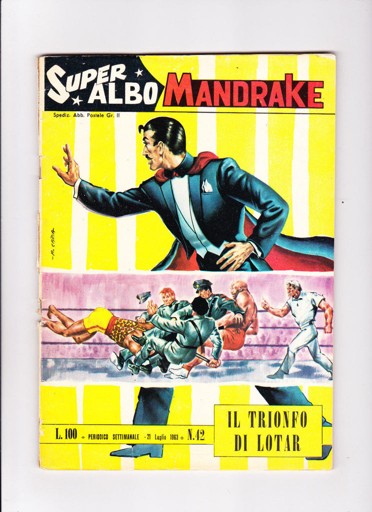 Super Albo Mandrake No.42 ::1963:: ::Wrestling Cover:: ::Italian Copy?::