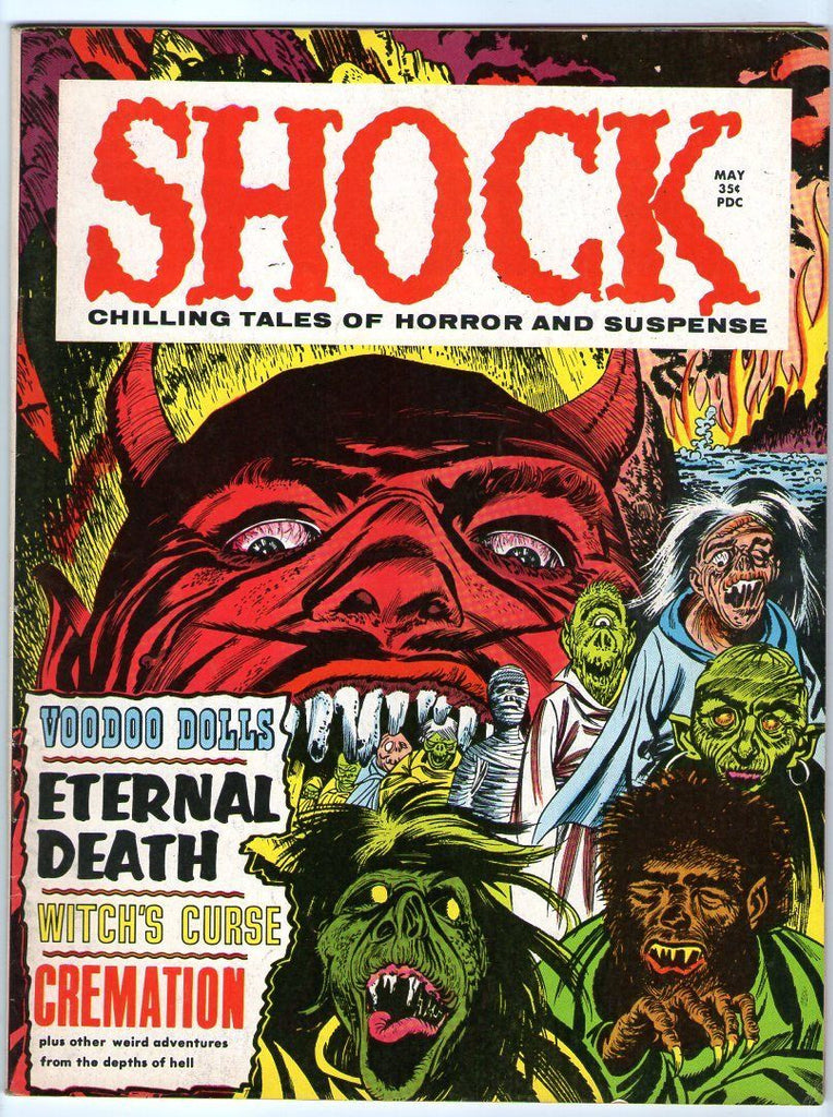 SHOCK 1 Bernard Baily WTOTF 7 Devil Cover 1969 Horror Mag