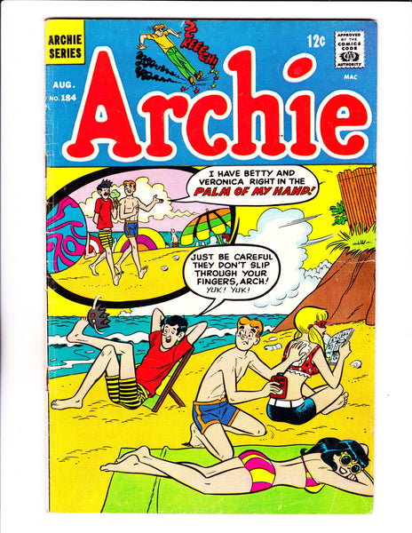 Archie No.184 : 1968 : : Sun Lotion Cover :