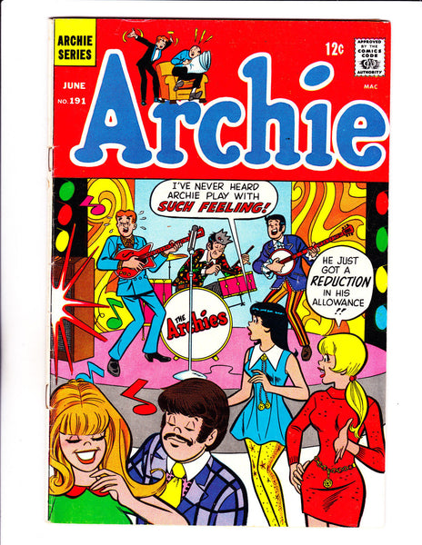 Archie No.191 : 1969 : : Archie's Band Cover :