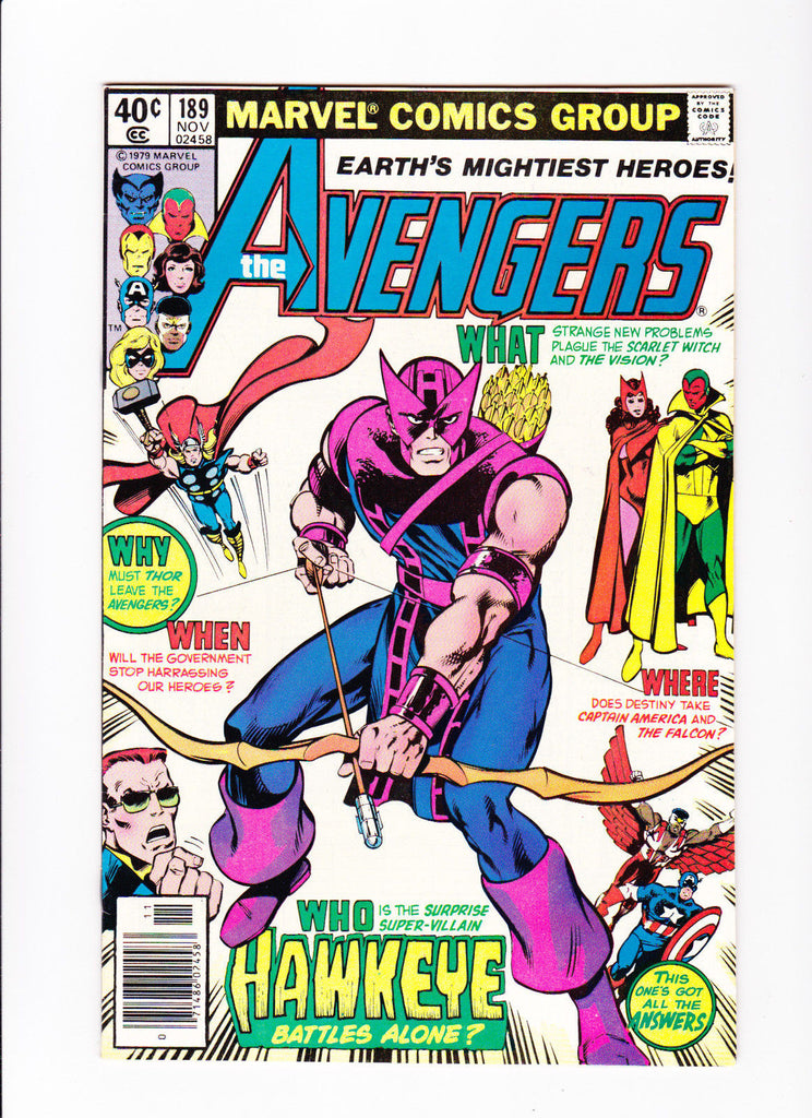 Avengers 189 :: Who is the Surprise Super-Villain Hawkeye Battles Alone? ::