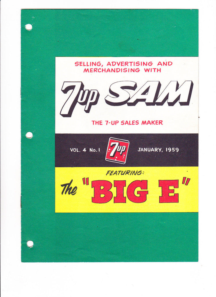 7UP SAM VOL 4 #1 1959 7UP Soda Giveaway Comic Very Scarce Item