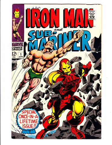 Iron Man and Sub-Mariner 1 1967 Super Nice Marvel Key Issue