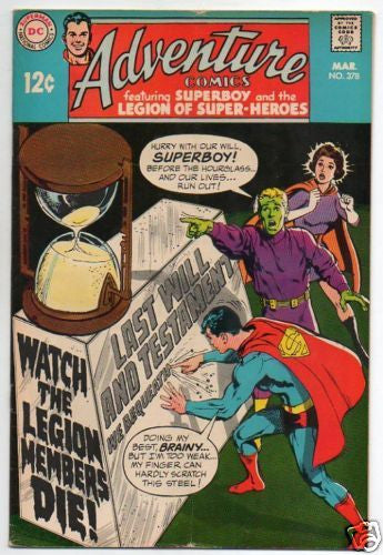 ADVENTURE COMICS :: 378 :: WATCH THE LEGION MEMBERS DIE