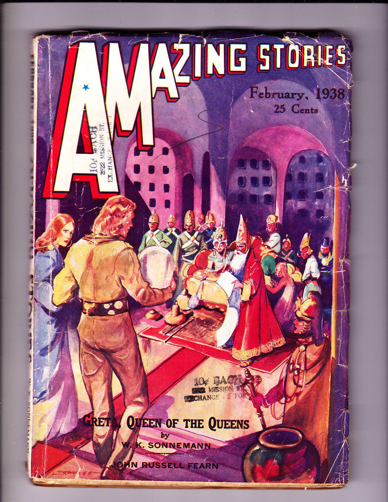 Amazing Stories Feb 1938 King and Queen Cover
