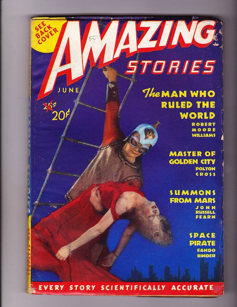 Amazing Stories June 1938 Fantastic Sci Fi Photo Cover on this Issue