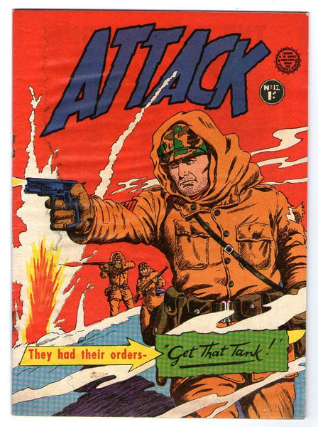 ATTACK 12 WINTER USA TROOPS COVER AUSTRALIAN COPY