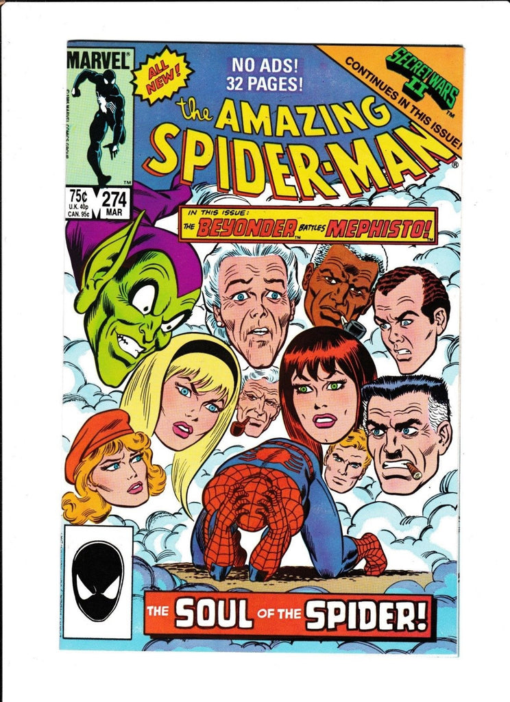 AMAZING SPIDER-MAN #274 [1986 FN+] SECRET WARS II CONTINUES IN THIS ISSUE