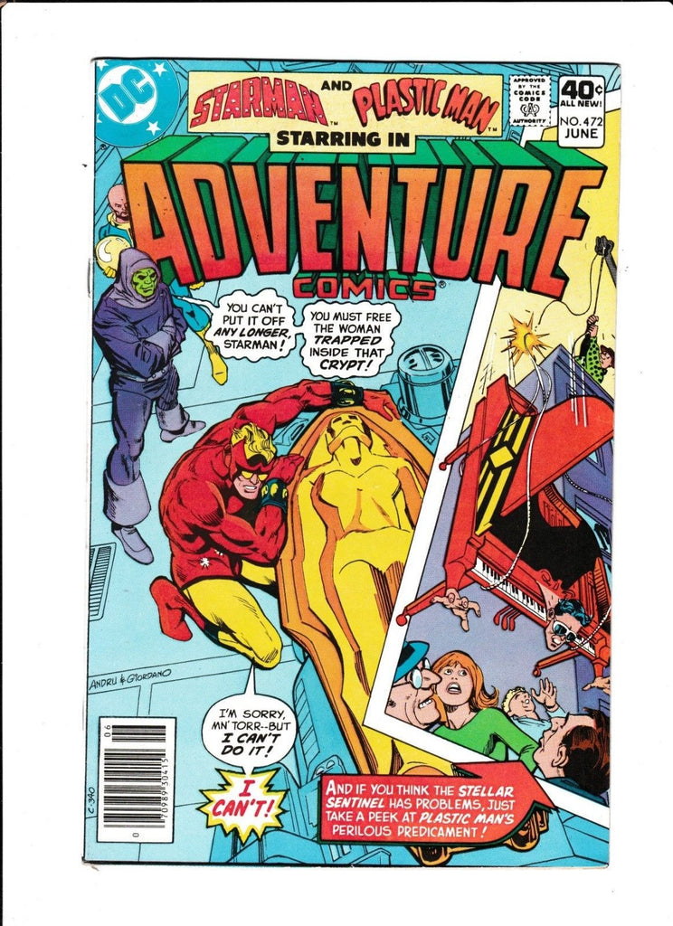 Adventure Comics No.472 : 1980 : : Piano Cover :