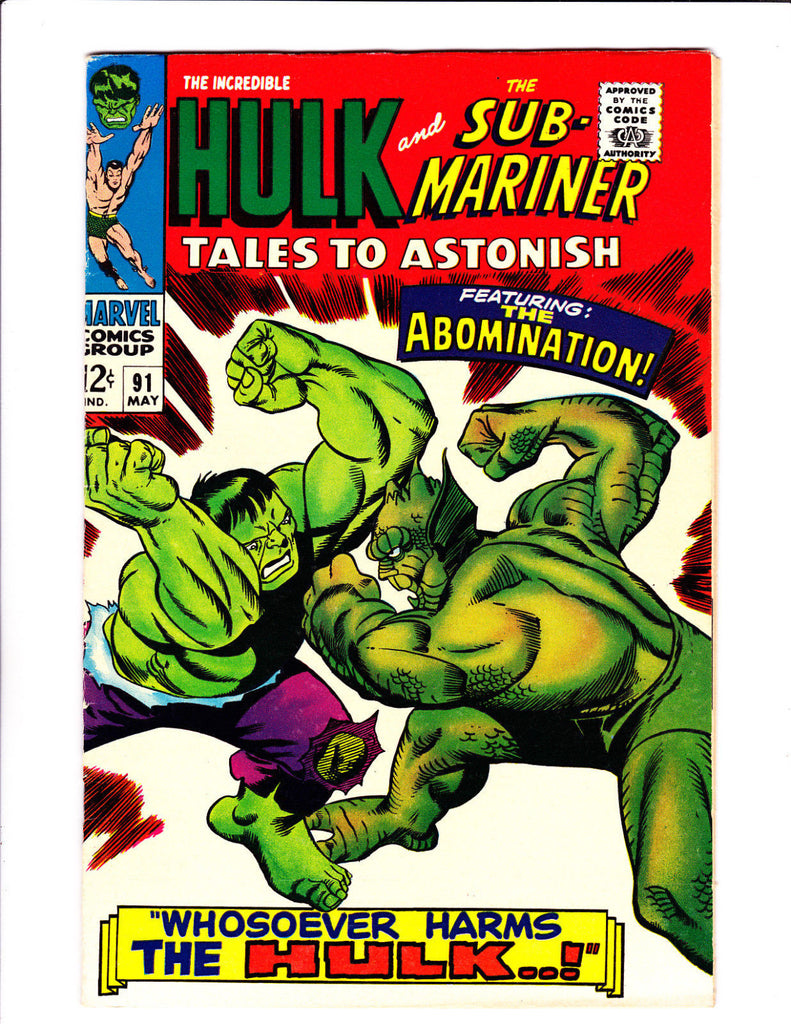 Tales Of Suspense  No.91   : 1967 :    : 1st Abomination Cover! :
