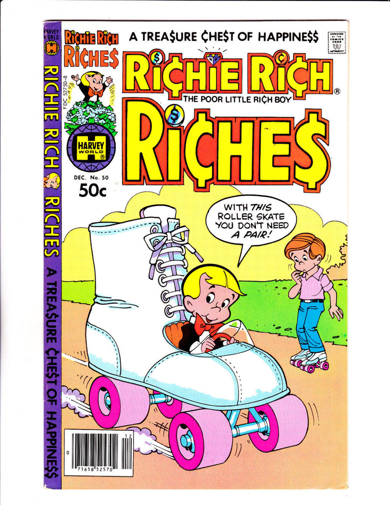 Richie Rich Riches No 50 : 1980 :Giant Roller Skate Cover :