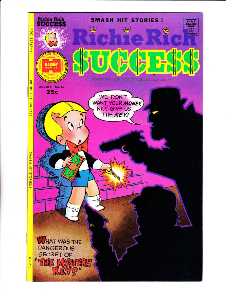 Richie Rich Success Stories No 63 : 1975 :Mystery Key Hold-Up Cover :